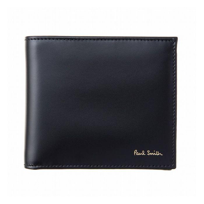 Paul Smith ポール・スミス 二つ折財布 M1A 4833 AMULTI 79?Black【送料無料】