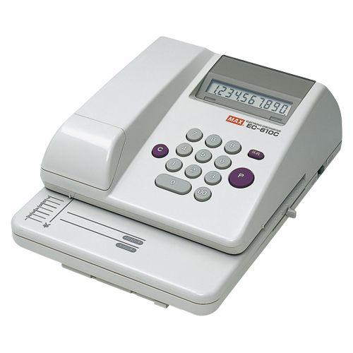 マックス 電子チェックライター EC-610C 1 台 EC90003 文房具 オフィス 用品