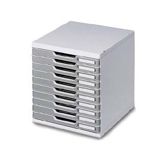 マルチフォーム オフィスセットシステム 10段 ストーングレー 1 台 0302-4041 文房具 オフィス 用品