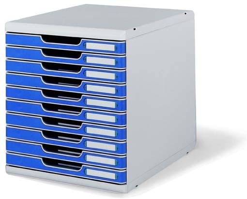マルチフォーム オフィスセットシステム 10段 ブルー 1 台 0302-4003 文房具 オフィス 用品