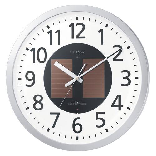 リズム時計工業 ソーラー電波掛時計 エコライフM815 1個