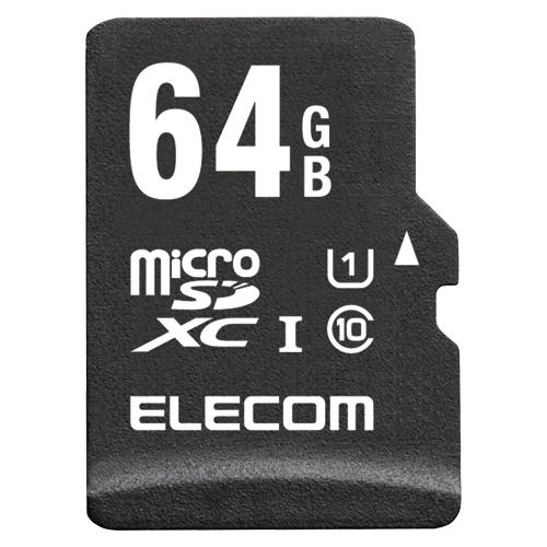 エレコム 高耐久microSDXCメモリカード 64GB MF-AMR064GU11/H 1個
