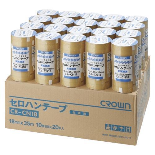 クラウン セロハンテープ 18×35 10巻×20 CR-CN18X20 1箱