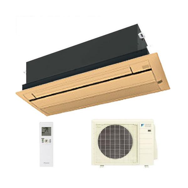 ダイキン ハウジングエアコン 天井カセット形シングルフロー 20畳程度 S63RCV(室内F63RCV・室外R63RCV) ブラウン BC40J-T 【業務用】(代引不可)【送料無料】
