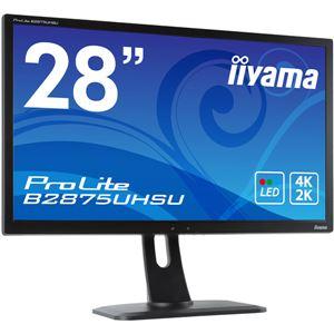 iiyama 28型ワイド液晶ディスプレイ Prolite B2875UHSU-B1 (4K2K解像度/TN/ノングレア液晶) マーベルブラック