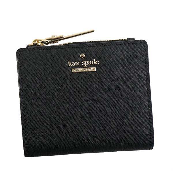 KATE SPADE(ケイトスペード) 二つ折り財布(小銭入れ付) PWRU5451 1 BLACK