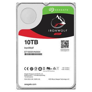 Seagate Guardian IronWolfシリーズ 3.5インチ内蔵HDD 10TB SATA6.0Gb/s7200rpm 256MB