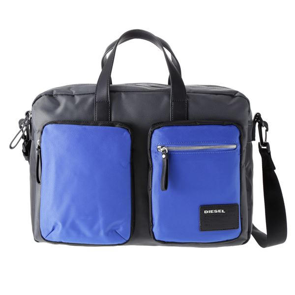 DIESEL (ディーゼル ) X03000 P0409 H5970 ビジネスバッグ Grey/Blue/Black