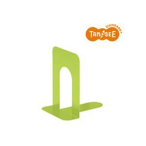 (まとめ)TANOSEE ブックエンド T型 特大 マスカットグリーン 20組