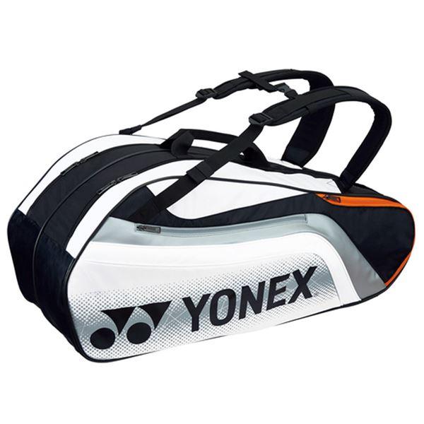 Yonex(ヨネックス) TOURNAMENT SERIES ラケットバック6 リュック付き(ラケット6本用) ブラック×ホワイト BAG1812R