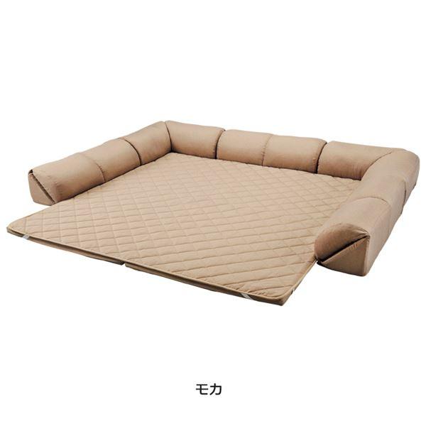ゆったり・まったりクッション一体型ラグ(カーペット・絨毯) 【50mm厚U字型大】 モカ