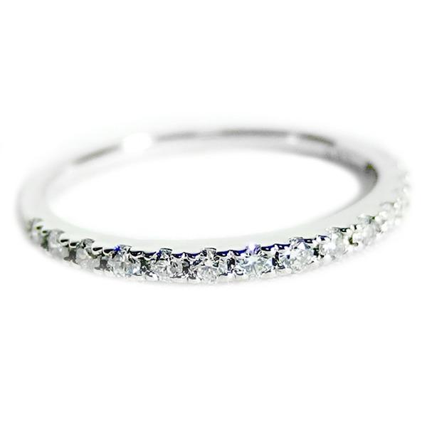 【鑑別書付】プラチナPT900 天然ダイヤモンドリング ダイヤ0.20ct 11.5号 ハーフエタニティリング