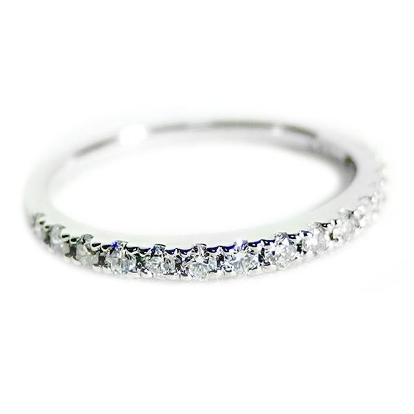 【鑑別書付】プラチナPT900 天然ダイヤモンドリング ダイヤ0.30ct 12号 ハーフエタニティリング