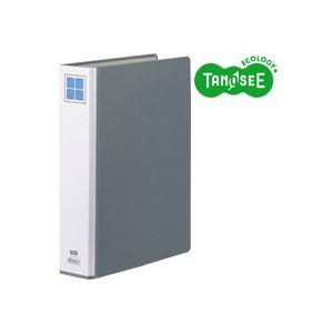 (まとめ)TANOSEE 両開きパイプ式ファイルE A4タテ 40mmとじ グレー 30冊, kousen a4fe9a20