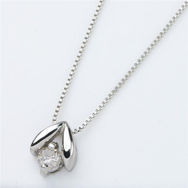 プラチナPT900 天然ダイヤモンドネックレス ダイヤ0.05CTネックレス