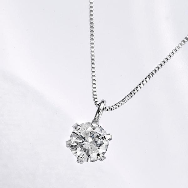 純プラチナ台 0.2ctダイヤモンド K10WGペンダント