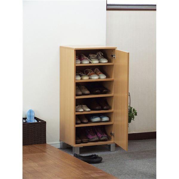 ワンドア シューズボックス(靴箱) ナチュラル 26189 【組立】