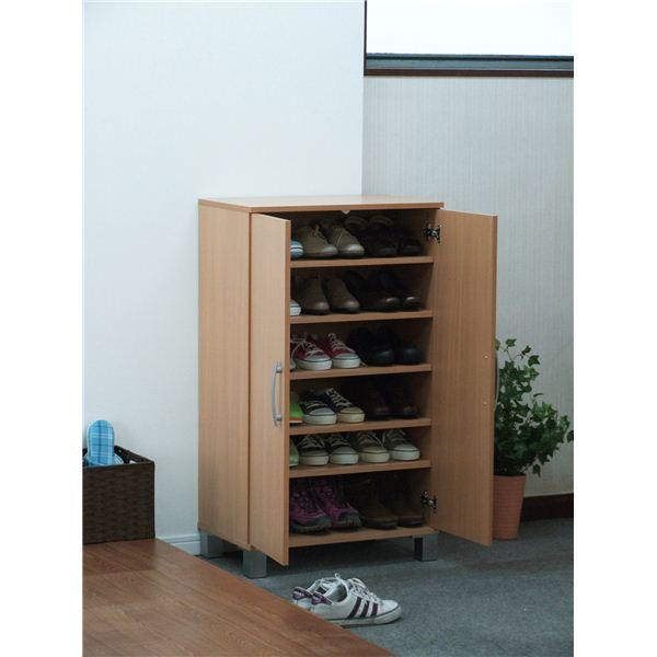 ツードア シューズボックス(靴箱) ナチュラル 26199 【組立】