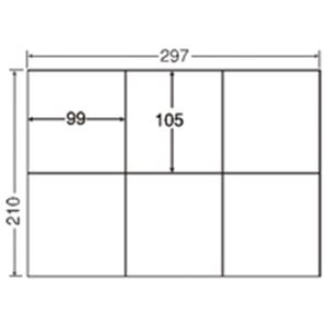 東洋印刷 ナナ コピー用ラベル C6G A4/6面 500枚