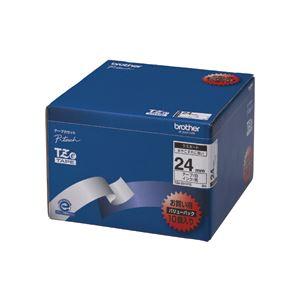 TZeテープ(ラミネートテープ) ピータッチ専用テープ(バリューパック) 白(黒文字) 24mm 10個入