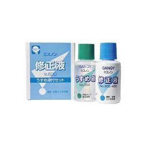(業務用100セット) カズキ 修正液ミスノン NO.600 うすめ液付 ×100セット