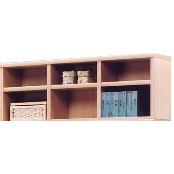 上置き(オープンラック用棚) 幅129cm 木製(天然木) 棚板付き 日本製 ナチュラル 【完成品】【代引不可】