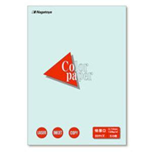 (業務用100セット) Nagatoya カラーペーパー/コピー用紙 【B5/特厚口 50枚】 両面印刷対応 水 ×100セット