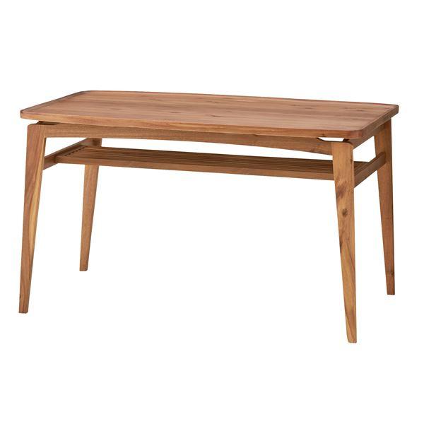 木目調ダイニングテーブル/リビングテーブル 【長方形 幅120cm】 木製 天然木/アカシア NET-722T