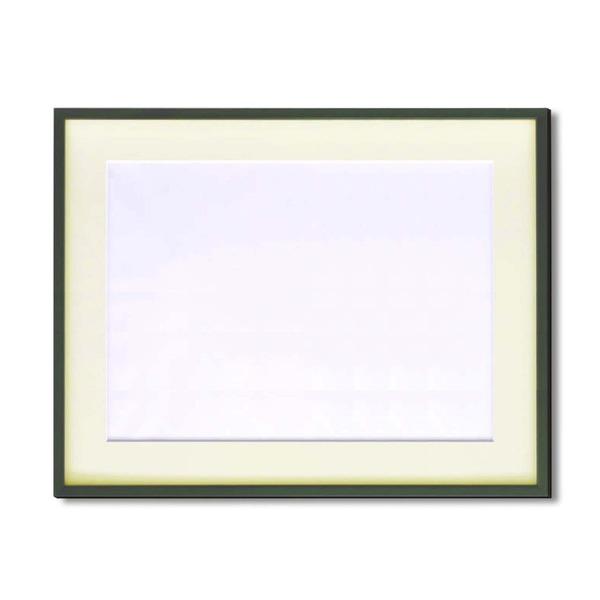 【額縁】マット・壁掛けひも・アクリル付 ■5767水彩額F10号 マット付 (グリーン)
