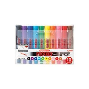 (業務用30セット) 三菱鉛筆 プロッキーPM150TR10CN 10色 ×30セット