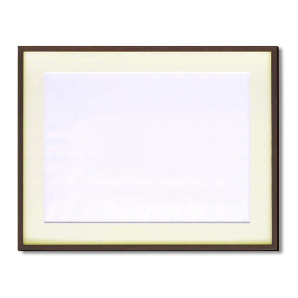 【額縁】マット・壁掛けひも・アクリル付 ■5767水彩額F10号 マット付 (ブラウン)