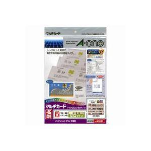(業務用100セット) エーワン マルチカード/名刺用紙 【A4/10面 10枚】 インクジェット専用 厚口 両面印刷可 51261 ホワイト(白) ×100セット