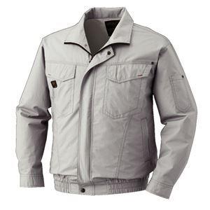 空調服 綿薄手長袖タチエリブルゾン リチウムバッテリーセット BM-500TBC06S5 シルバー XL