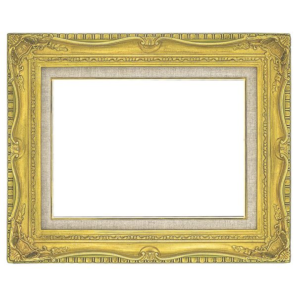 油絵額縁/油彩額縁 【F10 ゴールド】 縦64.1cm×横72.8cm×高さ10cm 表面カバー:ガラス 黄袋 吊金具付き 高級感