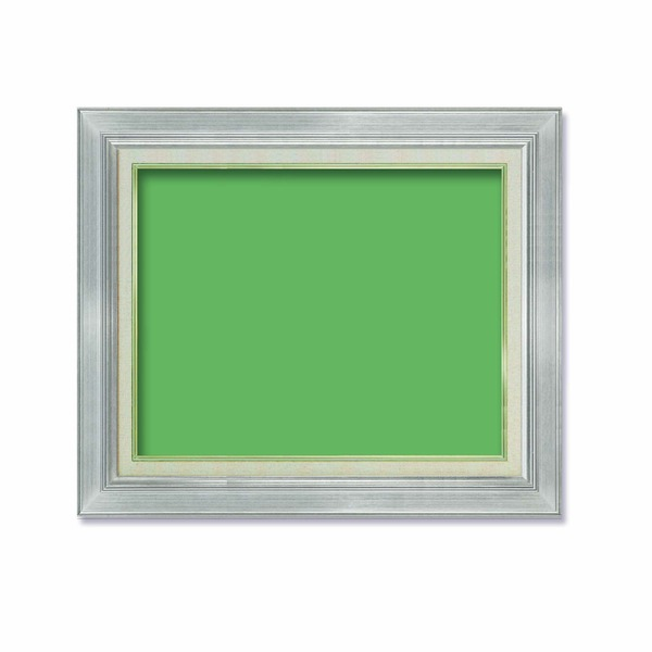 【油額】油絵額・キャンバス額・金の油絵額・銀の油絵額 ■7711 F8号(455×380mm)「シルバー」