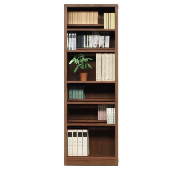 本棚/ブックシェルフ 【幅60cm】 高さ180cm 可動棚板8枚付き 木目調 日本製 ブラウン 【完成品】【代引不可】