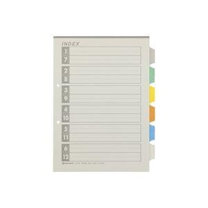 (業務用100セット) ジョインテックス 再生インデックスA4S 6色6山10組 D137J-6Y ×100セット