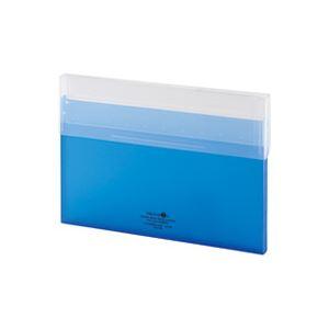 (業務用100セット) LIHITLAB コングレスケース薄型 A-5035-8 青 ×100セット