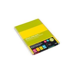 (業務用100セット) プラス スパイラルリング ノート RS-030-4P B5 4冊 ×100セット