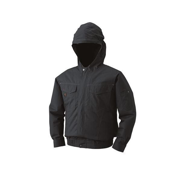 空調服 フード付綿薄手長袖ブルゾン リチウムバッテリーセット BM-500FC69S7 チャコール 5L