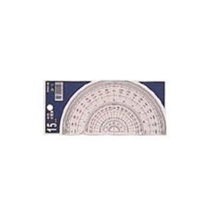 (業務用100セット) コンサイス 半円分度器 S-15 15cm ×100セット