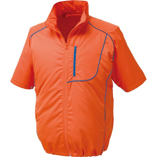 ポリエステル製半袖空調服 BP500S リチウムバッテリーセット 【カラー:オレンジ×ネイビー サイズ:2L】