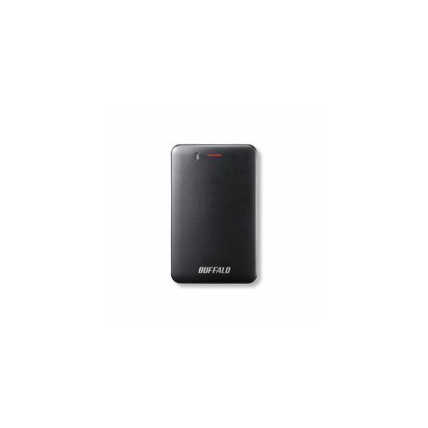 BUFFALO バッファロー SSD-PM240U3A-B 耐振動・耐衝撃 省電力設計 USB3.1(Gen1)対応 小型ポータブルSSD 240GB ブラック SSD-PM240U3A-B(USB)