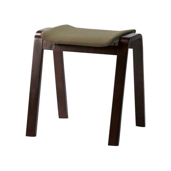 (4脚セット) スタッキングスツール/腰掛け椅子 グリーン TSC-117GR