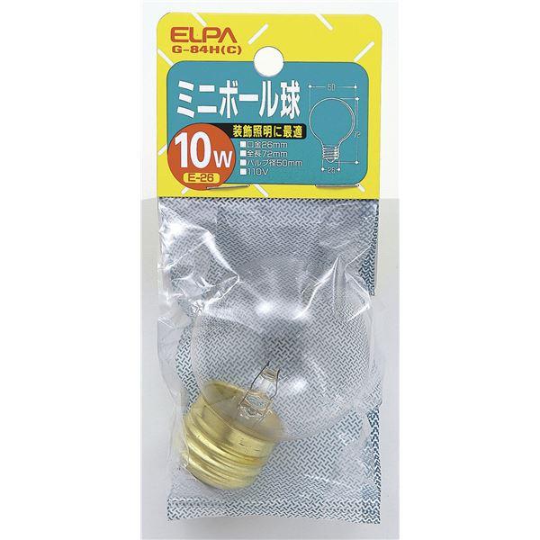 (まとめ買い) ELPA ミニボール球 電球 10W E26 G50 クリア G-84H(C) 【×25セット】