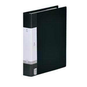 (業務用30セット) LIHITLAB 名刺帳 G8803-24 800名 A4 30穴 黒 ×30セット