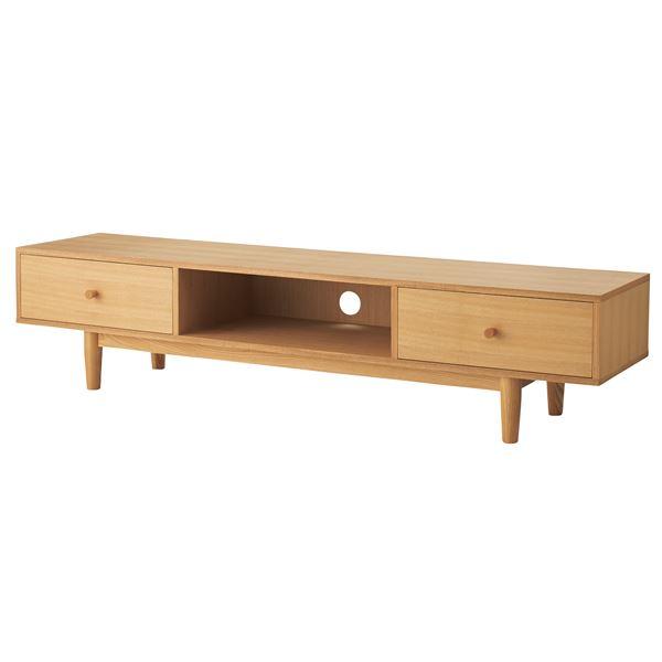 天然木テレビ台/テレビボード 【幅180cm】 46型~80型対応 木製 ナチュラル 『ヘンリー』 HOT-539NA