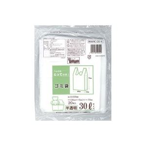(業務用200セット) 日本技研 取っ手付きごみ袋 半透明 30L 20枚 CG-4 ×200セット