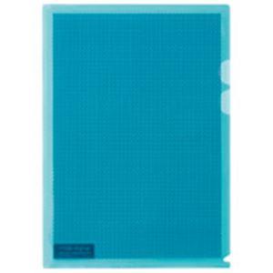 (業務用5セット) プラス カモフラージュホルダー A4 薄青 100冊 【×5セット】