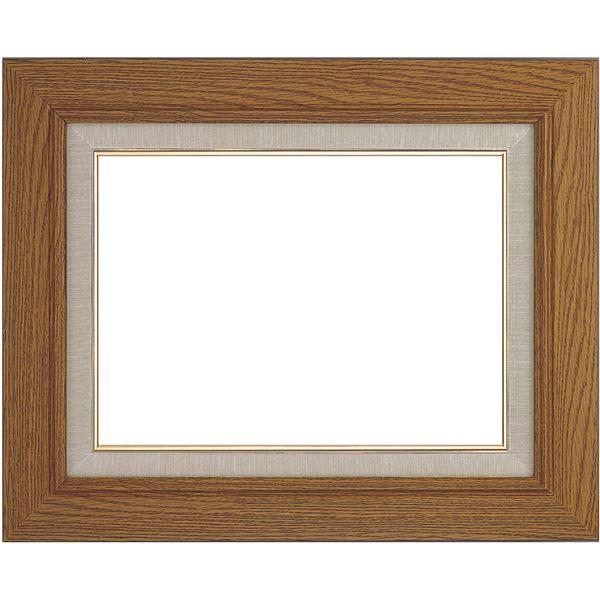シンプル仕様 油絵額縁/油彩額縁 【F10 チーク】 縦62.6cm×横70.1cm×高さ4.9cm 表面カバー:ガラス 木製